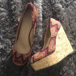 Peep toe platform Wedges